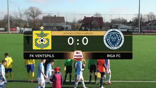 Video: FK Ventspils - Riga FC 1:1 (spēles labākie momenti)