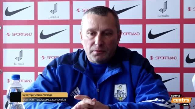 Video: Spartaks Jūrmala - BFC Daugavpils 3:0 (preses konference)