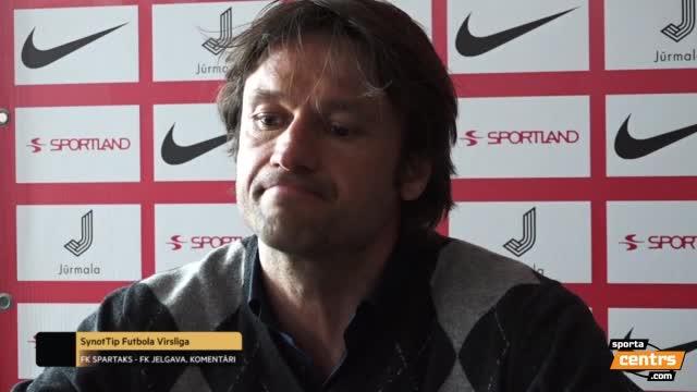 VIDEO: Spartaks Jūrmala - FK Jelgava 3:0 (preses konference)