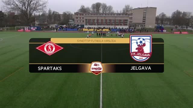 VIDEO: Spartaks Jūrmala - FK Jelgava 3:0 (spēles momenti)