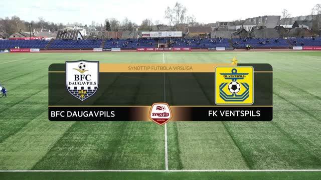 VIDEO: BFC Daugavpils - FK Ventspils 0:5 spēles momenti (16.apr.)