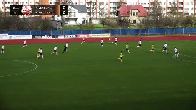 VIDEO: FK Ventspils - FK Jelgava 1:0 spēles momenti (22.apr.)