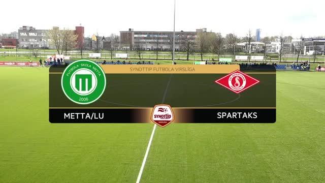VIDEO: FS Metta/LU - Spartaks Jūrmala 0:1 spēles momenti (23.apr.)