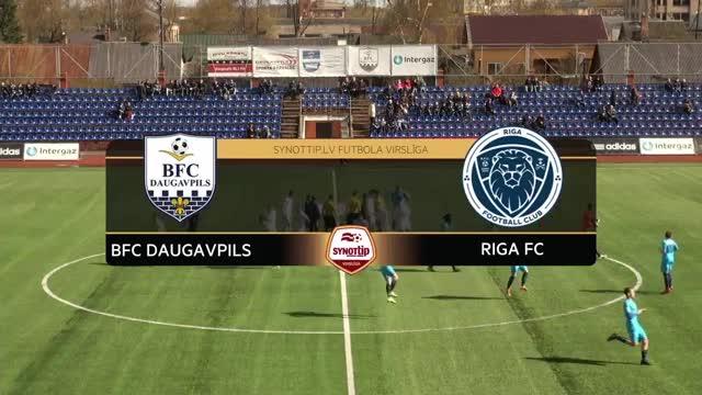 VIDEO: BFC Daugavpils - Riga FC 0:2 spēles momenti (23.apr.)