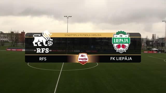 VIDEO: RFS - FK Liepāja 1:0 spēles momenti (24.apr.)