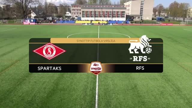 VIDEO: Spartaks Jūrmala - RFS 2:0 spēles momenti (30.apr.)