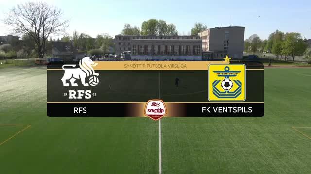 VIDEO: RFS - FK Ventspils 1:2 spēles momenti (8.mai.)