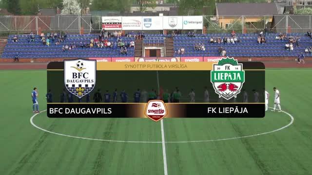 VIDEO: BFC Daugavpils - FK Liepāja 0:3 spēles momenti (9.mai.)