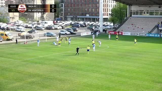 VIDEO: Riga FC - FK Ventspils 1:1 spēles momenti (13.mai.)