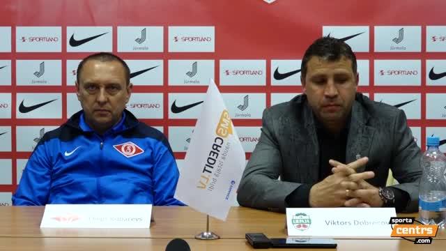 VIDEO: Spartaks Jūrmala - FK Liepāja 1:0 preses konference (14.mai.)