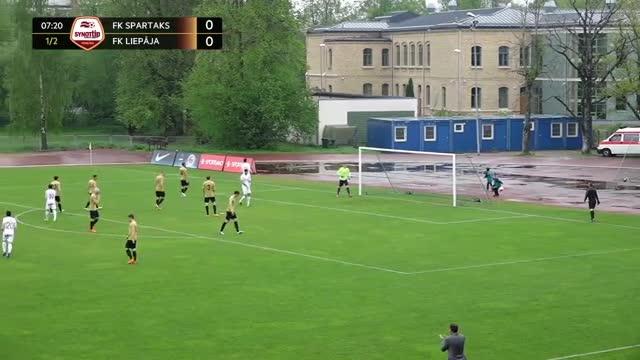 VIDEO: Spartaks Jūrmala - FK Liepāja 1:0 spēles momenti (14.mai.)