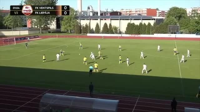 VIDEO: FK Ventspils - FK Liepāja 2:0 spēles momenti (26.mai.)
