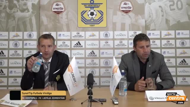 VIDEO: FK Ventspils - FK Liepāja 2:0 preses konference (26.mai.)