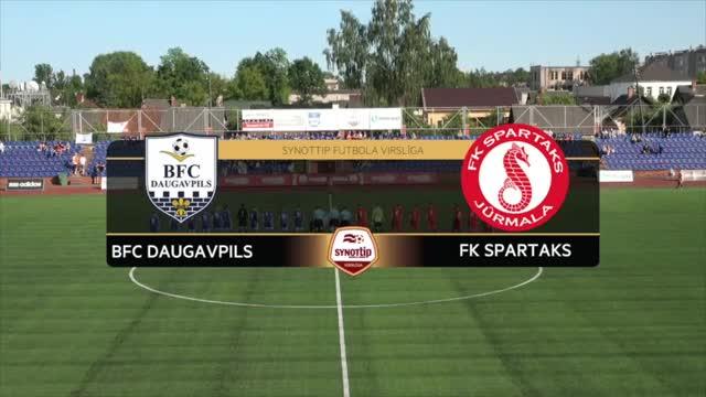 VIDEO: BFC Daugavpils - FK Spartaks Jūrmala 0:2 spēles momenti (27.mai.)