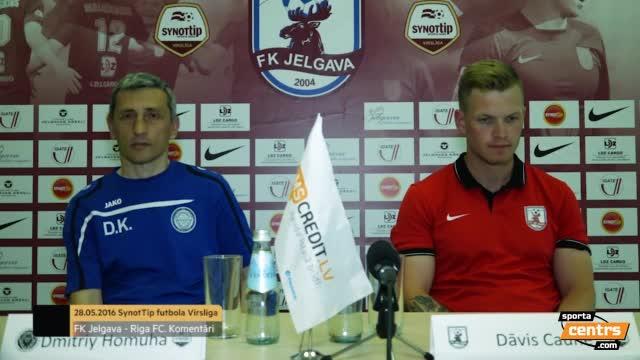 VIDEO: FK Jelgava - Riga FC 2:1 preses konference (28.mai.)