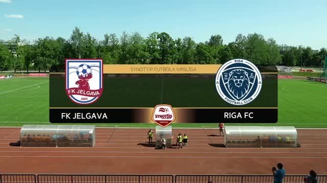 VIDEO: FK Jelgava - Riga FC 2:1 spēles momenti (28.mai.)