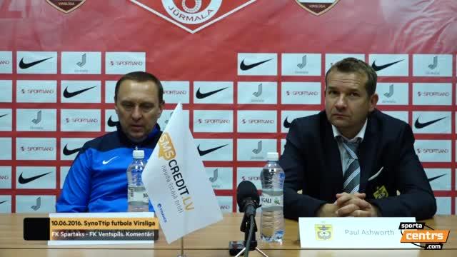 VIDEO: Spartaks Jūrmala - FK Ventspils 5:1 preses konference (10.jūn.)
