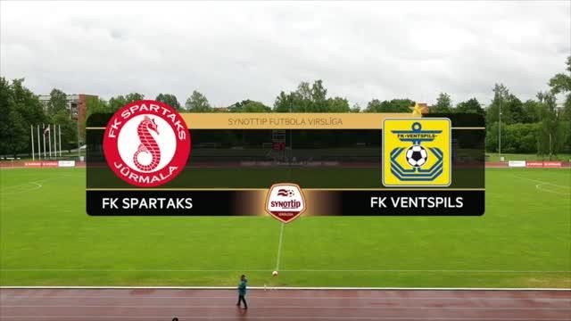 VIDEO: Spartaks Jūrmala - FK Ventspils 5:1 spēles momenti (10.jūn.)
