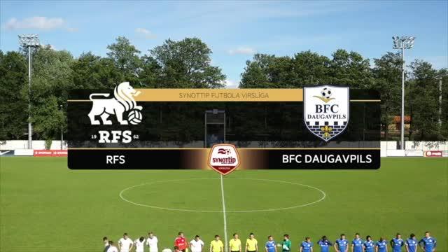 VIDEO: RFS - BFC Daugavpils 0:0 spēles momenti (12.jūn.)