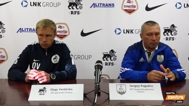 VIDEO: RFS - BFC Daugavpils 0:0 preses konference (12.jūn.)