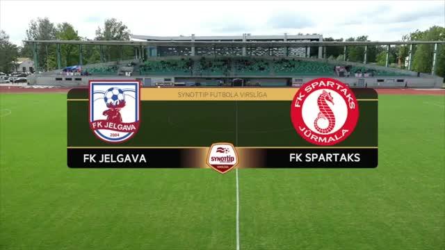 VIDEO: FK Jelgava - FK Spartaks Jūrmala 0:1 spēles momenti (18.jūn.)
