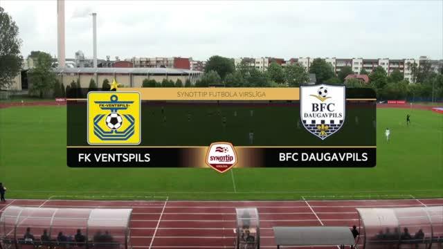 VIDEO: FK Ventspils - BFC Daugavpils 3:0 spēles momenti (18.jūn.)