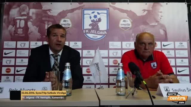VIDEO: FK Jelgava - FK Ventspils 4:3 preses konference (22.jūn.)