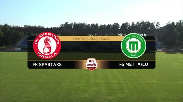 VIDEO: FK Spartaks Jūrmala - FS Metta/LU 4:1 spēles momenti (25.jūn.)
