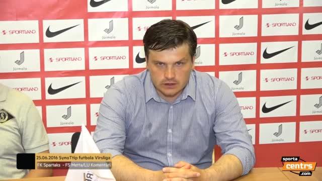 VIDEO: FK Spartaks Jūrmala - FS Metta/LU 4:1 preses konference (25.jūn.)