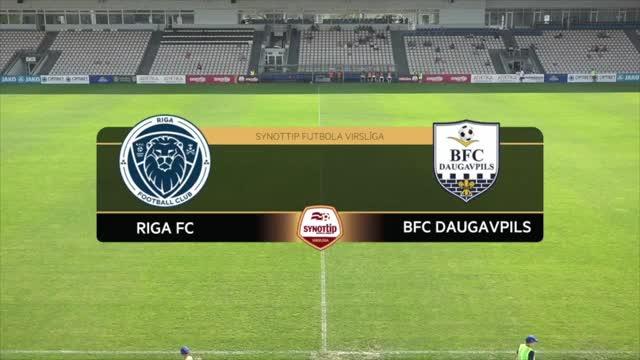 VIDEO: Riga FC - BFC Daugavpils 2:0 spēles momenti (26.jūn.)