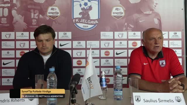VIDEO: FK Jelgava - FS Metta/LU 2:0 preses konference (10.jūl.)
