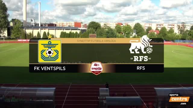 VIDEO: FK Ventspils - RFS 0:1 spēles momenti (10.jūl.)