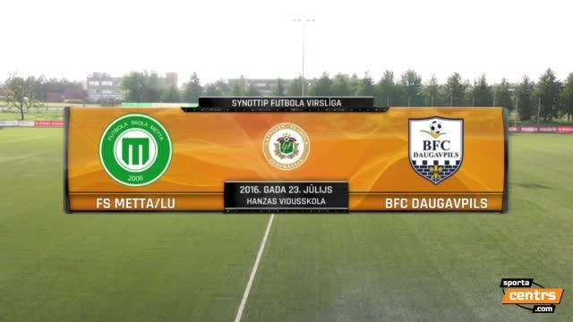 VIDEO: FS Metta/LU - BFC Daugavpils 2:2 spēles momenti (22.jūl.)