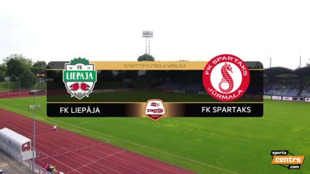 VIDEO: FK Liepāja - FK Spartaks Jūrmala 4:3 spēles momenti (24.jūl.)