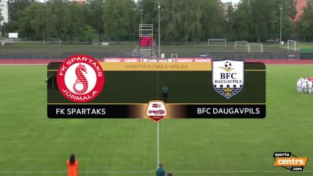 VIDEO: FK Spartaks Jūrmala - BFC Daugavpils 4:1 spēles momenti (30.jul.)