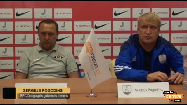 VIDEO: FK Spartaks Jūrmala - BFC Daugavpils 4:1 preses konference (30.jul.)