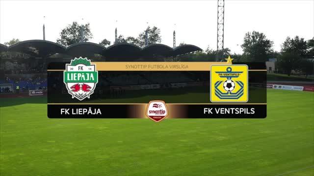 VIDEO: FK Liepāja - FK Ventspils 2:3 spēles momenti (30.jūl.)