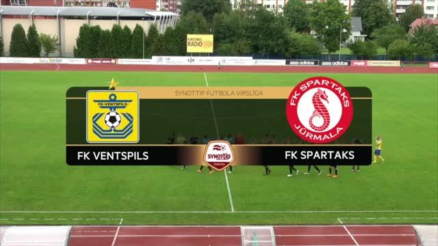 VIDEO: FK Ventspils - FK Spartaks Jūrmala 0:1 spēles momenti (5.aug.)