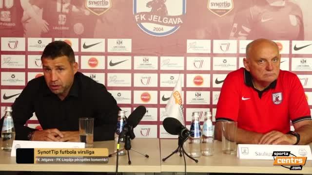 VIDEO: FK Jelgava - FK Liepāja 3:2 preses konference (8.aug.)