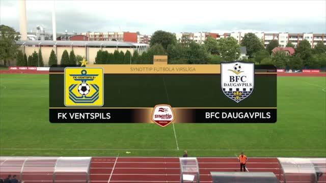 VIDEO: FK Ventspils - BFC Daugavpils 2:0 spēles momenti (13.aug.)