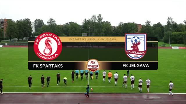 VIDEO: FK Spartaks Jūrmala - FK Jelgava 0:0 spēles momenti (13.aug.)