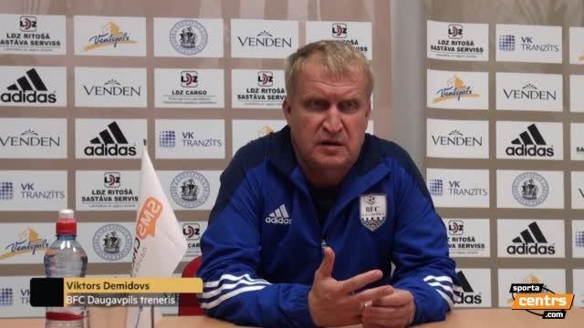 VIDEO: FK Ventspils - BFC Daugavpils 2:0 preses konference (13.aug.)