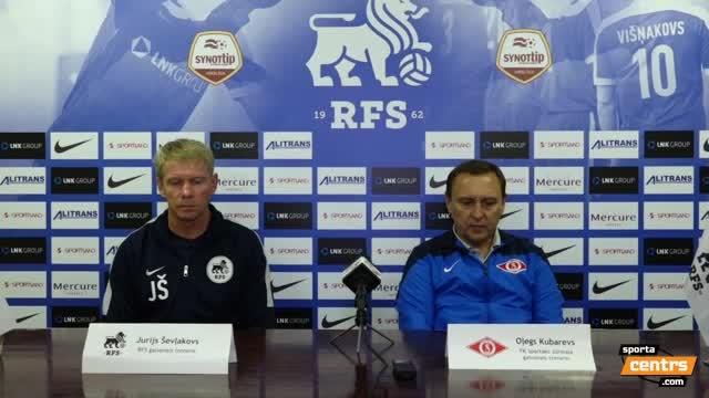VIDEO: RFS - FK Spartaks Jūrmala 0:2 preses konference (24.aug.)