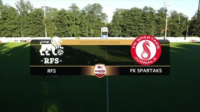 VIDEO: RFS - Spartaks Jūrmala 0:2 spēles momenti (24.aug.)