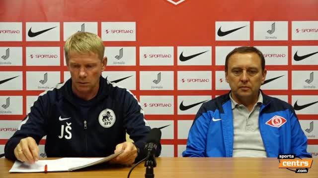 VIDEO: FK Spartaks Jūrmala - RFS 2:1 preses konference (28.aug.)