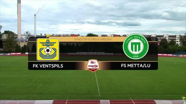 VIDEO: FK Ventspils - FS Metta/LU 2:0 spēles labākie momenti (28.aug.)