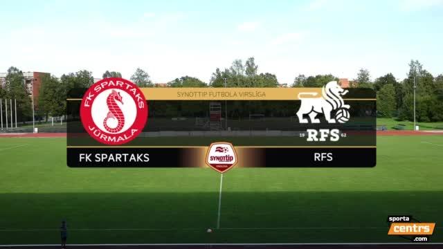 VIDEO: FK Spartaks Jūrmala - RFS 2:1 spēles momenti (28.aug.)