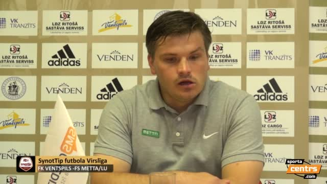 VIDEO: FK Ventspils - FS Metta/LU 2:0 preses konference (28.aug.)
