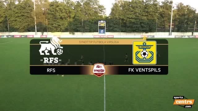 VIDEO: RFS - FK Ventspils 0:3 spēles momenti (10.sep.)