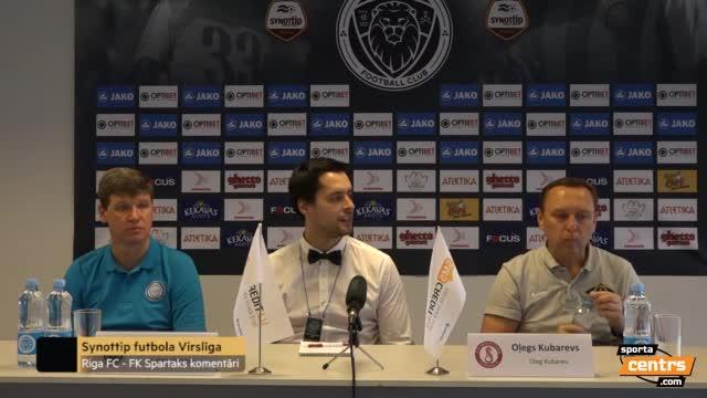 VIDEO: Riga FC - FK Spartaks Jūrmala 1:1 preses konference (11.sep.)
